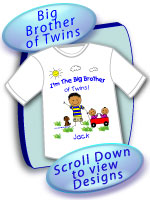 Big brother of Twins Gifts
