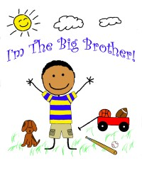 I'm the big brother tee shirt