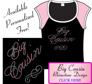Big Cousin Rhinestone Design