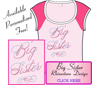 Big Sister Rhinestone Design