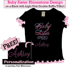 Big Sister Rhinestone T-Shirts