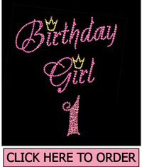 Birthday Girl 1 Rhinestone T-Shirt
