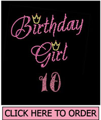 Birthday Girl 10 Rhinestone T-Shirt
