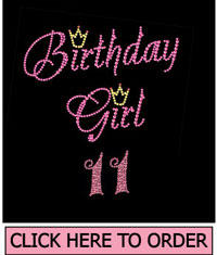 Birthday Girl 11 Rhinestone T-Shirt