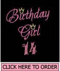 Birthday Girl 14 Rhinestone T-shirt