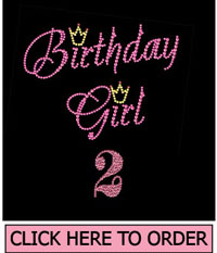 Birthday Girl 2 Rhinestone T-shirt