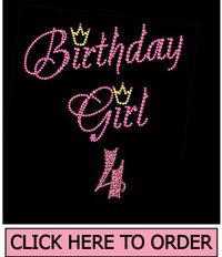 Birthday Girl 4 Rhinestone T-Shirt