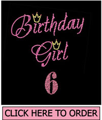 Birthday Girl 6 Rhinestone T-Shirt
