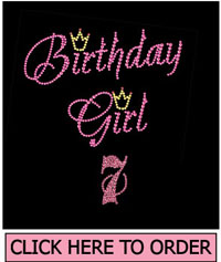 Birthday Girl 7 Rhinestone T-Shirt