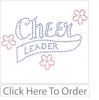 Cheerleader Rhinestone T-shirt