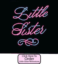 Little Sister Rhinestone Tee shirts