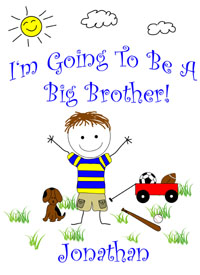 I'm going to ba a big brother tee shirt