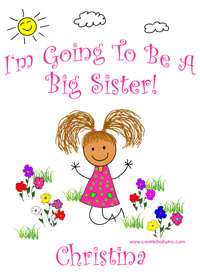 I'm Going To Be A Big Sister Again shirts