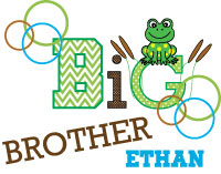 Matching adorable frog big brother - adorable little brother - Adorable baby brother - adorable middle brother - adorable biggest brother tee shirts, onesies, sweatshirts, bibs and sweatshirts.