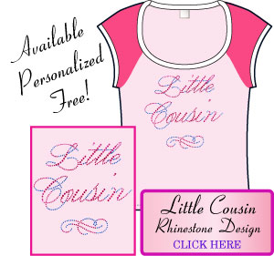Little Cousin Rhinestone Design