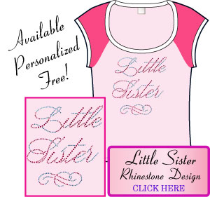 Little Sister Rhinestone Design