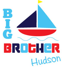 Matching adorable sailboat big brother - little brother - baby brother - middle brother - biggest brother tee shirts, onesies, sweatshirts, bibs and sweatshirts.