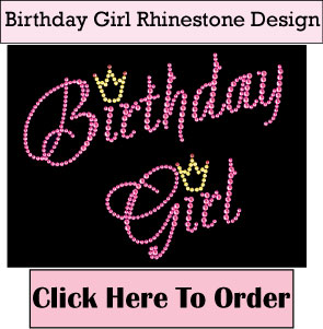 Birthday Girl Rhinestone T-Shirts