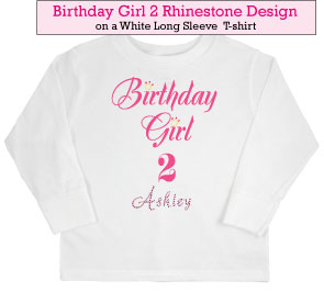 Birthday Girl (2) Rhinestone t-shirt