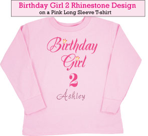Birthday Girl (2) Rhinestone t-shirts