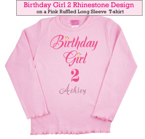 Birthday Girl (2) Rhinestone Tee Shirt