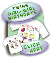 Twins Birthday Shirts For Two(2) Girls