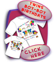 Twins Birthday Shirts For Two(2) Boys