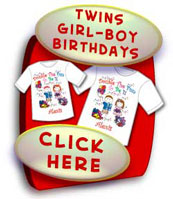 Twins Birthday Shirts For A Girl & A Boy