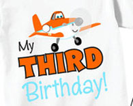 3rd Birthday Shirts for Boys with Cute Plane