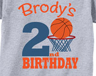 2nd Birthday Shirts with Basketball