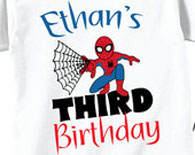 3rd Birthday Shirts with Spiderman for Boys