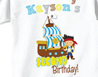 2nd Birthday Shirts and T Shirts with Pirate