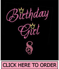 Birthday Girl 8 Rhinestone T-Shirt