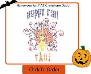 Custom Fall Rhinestone T-Shirt